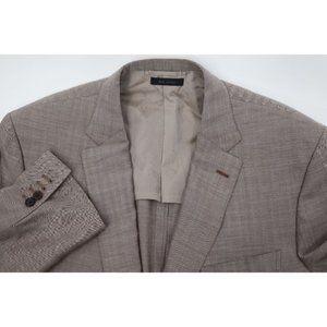 Brioni men's 56 Ravello wool linen silk sport coat